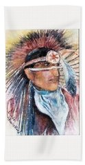 Indian Portrait Beach Towel
