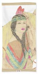 Indian Princess At Fair Beach Sheet