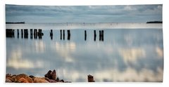 Beach Towel featuring the photograph Indian River Morning by Norman Peay