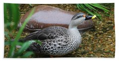 Indian Spot-billed Duck Beach Towel