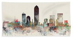 Indianapolis City Skyline Beach Towel