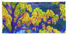 Indigo Autumn Beach Sheet by Ann Johndro-Collins
