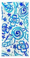 Indigo Blooms Beach Sheet