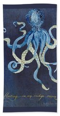 Indigo Ocean - Floating Octopus Beach Towel