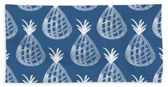 Indigo Pineapple Party Beach Towel