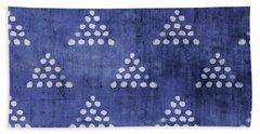 Indigo Triangles 2- Art By Linda Woods Beach Towel