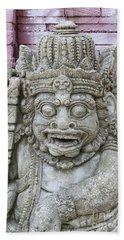 Indonesian Statue #2 Beach Sheet
