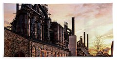 Beach Towel featuring the photograph Industrial Landmark by DJ Florek