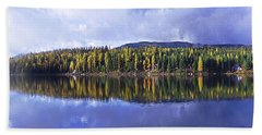 Beach Towel featuring the photograph Inez Lake Montana by Janie Johnson