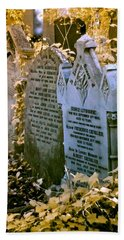 Infrared George Leybourne And Albert Chevalier's Gravestone Beach Towel