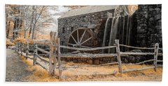Infrared Grist Mill Beach Towel