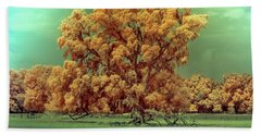 Infrared Surreal Tree Canopy Beach Towel by Louis Ferreira