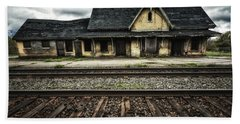Ingersoll Train Station Color Beach Sheet
