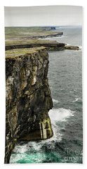 Beach Towel featuring the photograph Inishmore Cliffs And Karst Landscape From Dun Aengus by RicardMN Photography