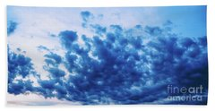 Beach Towel featuring the photograph Ink Blot Sky by Colleen Kammerer