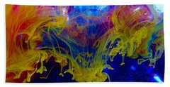 Ink Explosion 9 Beach Towel by Lilia D