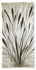 Beach Towel featuring the drawing Ink Grass by Ivana Westin