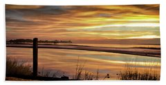 Beach Towel featuring the photograph Inlet Watch At Dawn by Phil Mancuso