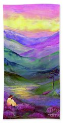 Inner Flame, Meditation Beach Towel