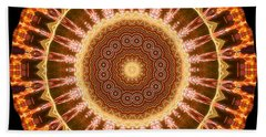 Inner Star Mandala Beach Towel by Wernher Krutein
