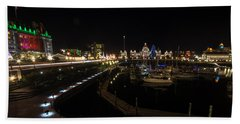 Inner Harbour Of Victoria Bc Beach Towel by Marilyn Wilson