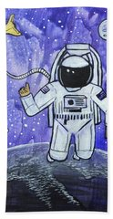 Beach Towel featuring the painting Inquisitive Explorer by Nathan Rhoads