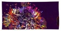 Beach Sheet featuring the digital art Insect Bug Bee Beetle  by PixBreak Art