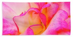 Inside Rose Petal Curves Beach Towel by Teri Virbickis