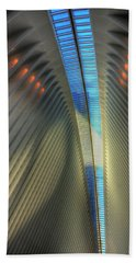 Beach Towel featuring the photograph Inside The Oculus by Paul Wear
