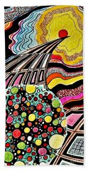 Inside The World  Beach Sheet by Yury Bashkin