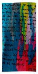 Inspiration From Warhol Beach Towel