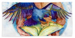 Inspiration Spreads Its Wings Beach Towel by Melinda Dare Benfield