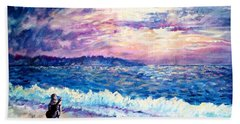 Inspiration-the Musician Beach Sheet by Shana Rowe Jackson