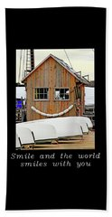 Inspirational- The World Smiles With You Beach Sheet