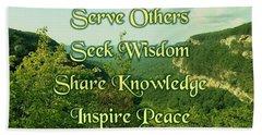 Inspire Peace Beach Sheet