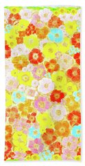 Beach Towel featuring the painting Inspired By Persimmon by Lorna Maza