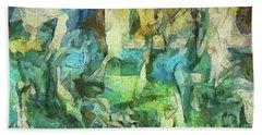 Inspired By Roberto Matta Beach Sheet