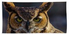 Intense Owl Beach Towel