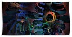 Beach Towel featuring the digital art Interlude 1536 - Fractal Art by NirvanaBlues