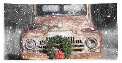 International Christmas Snow Beach Towel