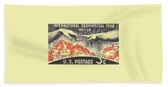 International Geophysical Year Stamp Beach Towel