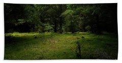Internationaler Tag Des Waldes - International Day Of Forests - Wood Glade In The Urft Valley Beach Sheet