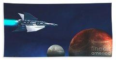 Interplanetary Travel Beach Towel