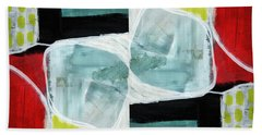 Intersection 37 Part 2- Art By Linda Woods Beach Towel