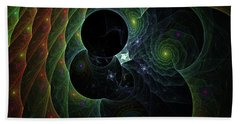 Beach Towel featuring the digital art Into Space And Time by Deborah Benoit