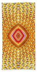 Beach Towel featuring the digital art Into The Centre - Vertical by Wendy Wilton