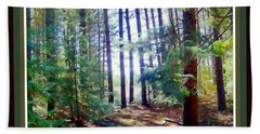 Into The Clearing Beach Towel by Shirley Moravec