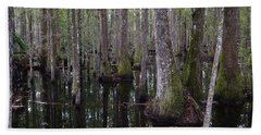Into The Cypress Swamp Beach Towel