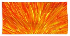 Into The Fire Beach Towel