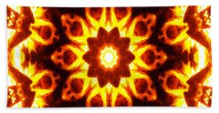Beach Towel featuring the digital art Into The Fire by Shawna Rowe